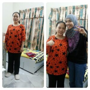 Josephine Ang and Eni